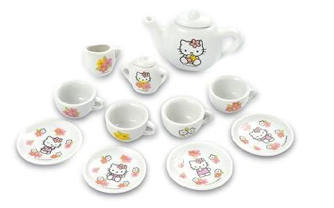 Smoby 24249 - Porzellan Kaffeeservice Hello Kitty,13-tlg.