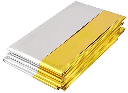 Iso Trade Rettungsdecke 210x140cm Gold/Silber Notfalldecke Rettungsfolie Wärme Erste Hilfe 5209