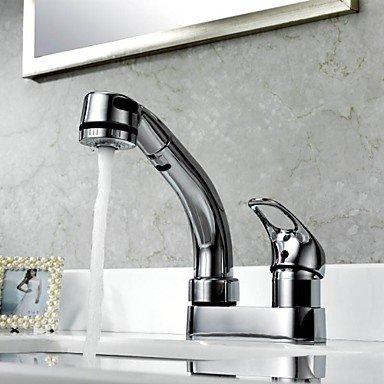 Preisvergleich Produktbild Wasserhahn-Küchenarmatur Zeitgenössisch LED/Mit ausziehbarer Brause Messing Chrom