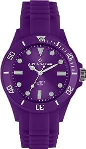Alpha Saphir Unisex-Armbanduhr 370K, 40 mm violett