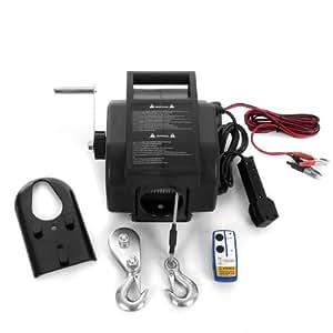 Rotfuchs® EBW02.W 12V Elektrische Seilwinde 4990 KG mit Funkfernbedienung