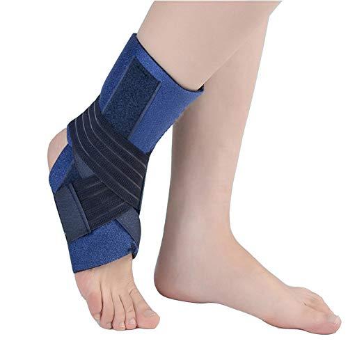 Knöchelunterstützung, verstellbarer Fußabfall Orthesenstütze Unterstützung Schmerzlinderung heiß, Achillessehne Knöchelbandage, zwei Aluminiumstangen, je nach Größe für linken oder rechten Fuß,L