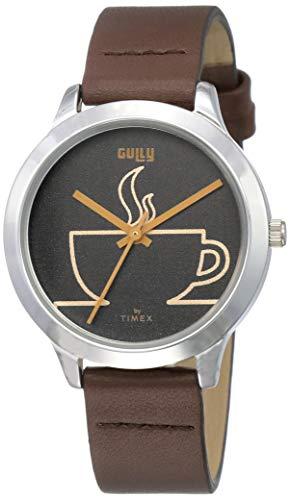 Gully by Timex Coffee Analog Black Dial Women's Watch-TW000T621