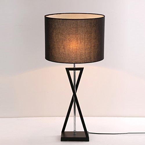 Moderne Bettrahmen (JIAHONG Moderne Schlafzimmer Bettrahmen einfache Leinen Mode Schreibtisch Lampe kreative Eisen Handwerk Wohnzimmer Beleuchtung Tischlampe ( Color : Black ))
