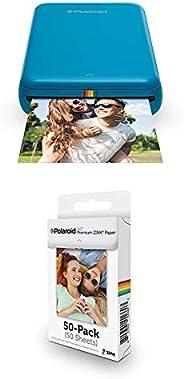 Polaroid Zip - Impresora móvil, Azul + Paquete de 50 Hojas