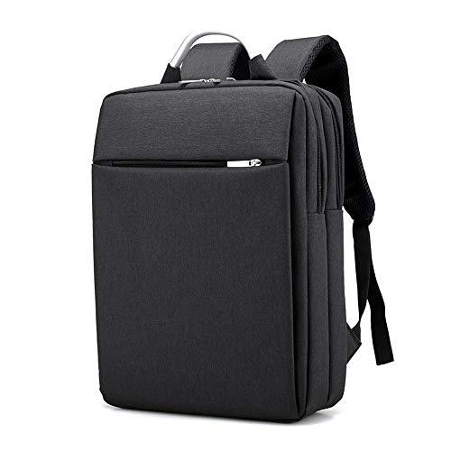 BOZEVON Mochila Cuadrada para Laptop - Mochila de Viaje de Negocios Liviana Oxford Resistente al Desgaste,Negro,One Size