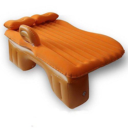 LPY-Aufblasbare Auto Matratze mit Kissen Aufblasbare Auto Bett Sitz Reisen Camping Luftmatratze Luftbett , orange