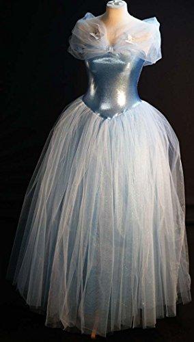 Neu Cinderella-blau PRINZESSIN-MÄRCHEN FUNKEL BALLKLEID PLUS GRÖßEN KOSTÜM größe ()