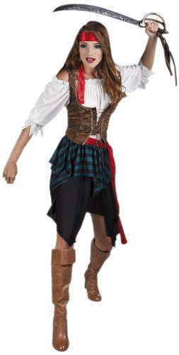 Bluse Damen Pirat (Boland 83534 - Damen Kostüm Piratin, Rock, Shirt, Korsett und Tuch, Größe 36 / 38)