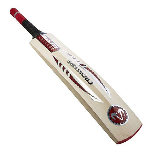 Cricket Crossfire Ram-Mazza da Cricket in legno di salice inglese di qualità, 4 pezzi, manico corto