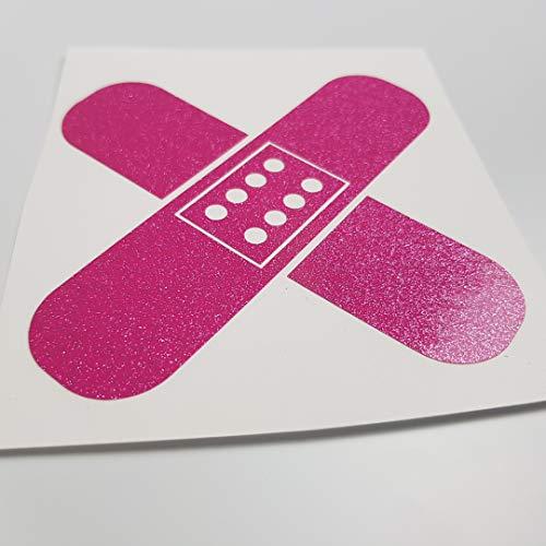 folien-zentrum Pflaster Glitzer Metallic Pink Shocker Hand Auto Aufkleber JDM Tuning OEM Dub Decal Stickerbomb Bombing Sticker Illest Dapper Fun Oldschool