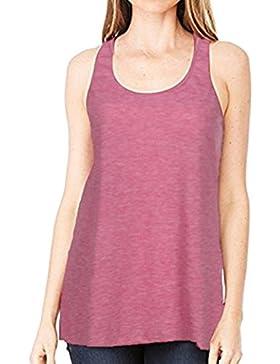 JYC Camiseta de Algodón Summer Value 2018, Parte Superior de Gasa con Cremallera, Blusas Para Mujer Vaquera, Sin...