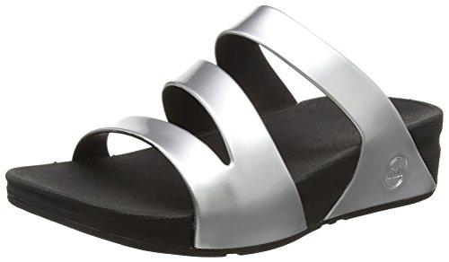 FitFlop Superjelly Twist, Sandales femme Silver (Silver Mirror)