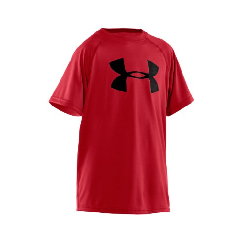 Kinder Armour Under T-shirt (Under Armour Jungen Fitness T-Shirt und Tank UA Tech Big Logo Short Sleeve, rot (600),164 (Herstellergröße: YXL))