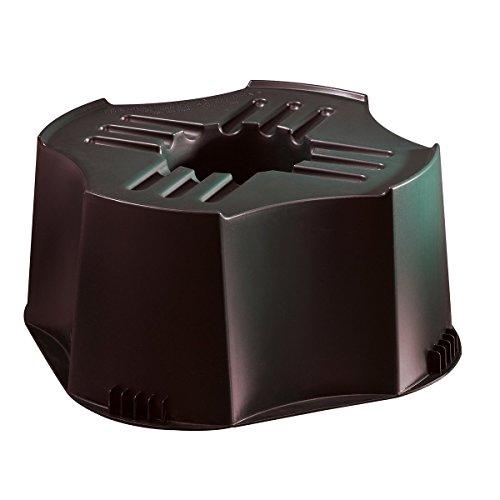 Socle pour tonneau conique d'eau Plastique Noir Nature 27 x 50 cm (H x ø)