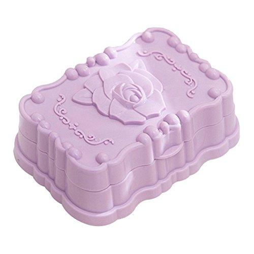 (Gmgqsago Moderner Kunststoff-Rosen Badezimmer-Abtropfgestell – Lila violett)