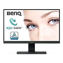 BenQ GW2480 24 Inch 1080p Eye Care LED IPS Monitor, Anti-Glare, HDMI, B.I. Sensor for Home Office - Black