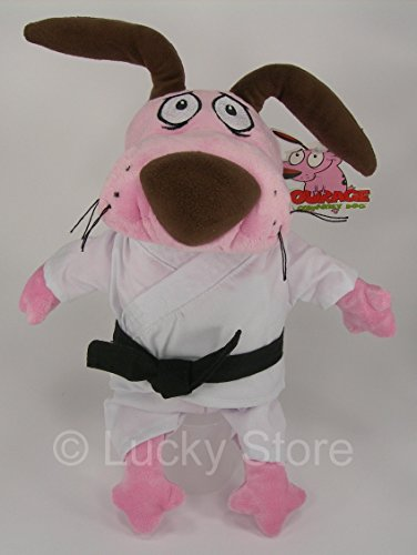 Courage The Cowardly Dog dressed as a Karateka Soft Toy Plush 12'' Cartoon Network