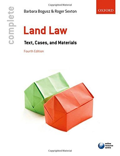 Complete Land Law: Text, Cases, and Materials by Barbara Bogusz (2015-09-15)