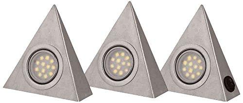 IBV LED Unterbauleuchten, 12 x 13,5 x 4 cm, A inklusive Konverter und eingebauten 3 x 3 W LED, edelstahl 995303-102