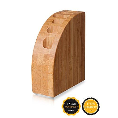 Messerblock Tivoli / Messerhalter / Messerständer (ohne messer) Holz - für sichere, saubere und geordnete Aufbewahrung der Messer