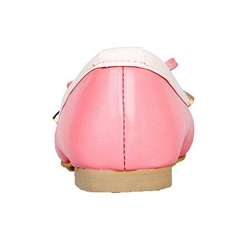 Solido Hanno Rotonda Tacco Voguezone009 Le Scarpe Colore Donna Tira Chiara Rosa Pelle Giù 68w0x