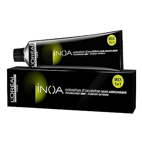 L´Oréal Inoa 6,1 Dunkelblond Asch, permanente Coloration, Ammoniakfrei, Geruchlos, 60 ml