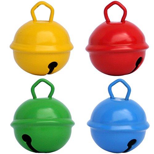 n Blau Gelb Farbe (X 4 Glocke 25 mm) Schön laut sound, Mehr als 16 farben in 3 Größen glocken (Riese 35mm, groß 25mm, mittel 15mm) Zum basteln, Baby, kinder, Dekoration, Montessori ()