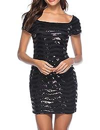 3809c9feb27f DAY8 vestiti donna Eleganti Estivi Corti Vestiti Donna Sexy Moda con  Paillettes Abito Vestito Sera Donna