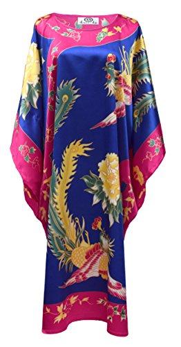 Kimono boubou chinois bleu
