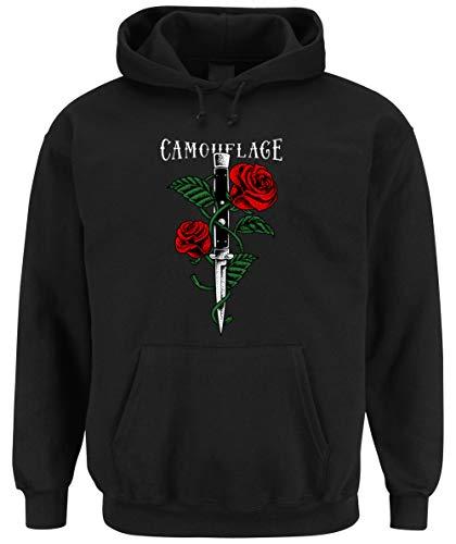Certified Freak Knife Roses Hooded-Sweater Black M -