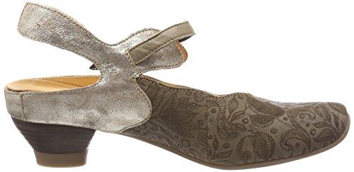 Pensez Aida_282245, Chaussures Avec Bride À La Cheville Femme Beige (macchiato / Kombi 25)