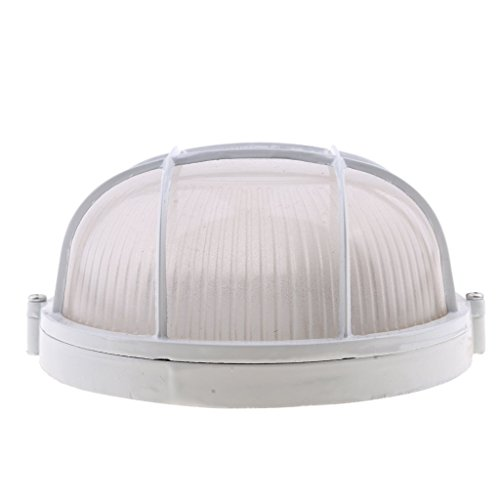 sgerste Explosion Proof vapor-proof Sauna Dampfbad Licht Lampenschirm Guard-weiß, rund -