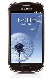 Samsung Galaxy S3 mini I8190 Smartphone (10,2 cm (4 Zoll) AMOLED Display, Dual-Core, 1GHz, 1GB RAM, 5 Megapixel Kamera, Android 4.1) braun
