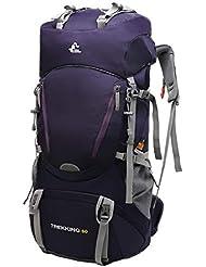 a0a8581d07 JOTHIN Impermeabile Nylon Zaini da Trekking Grande 60L Borsa da Alpinismo  Outdoor Uomo Zaino Escursionismo Casual