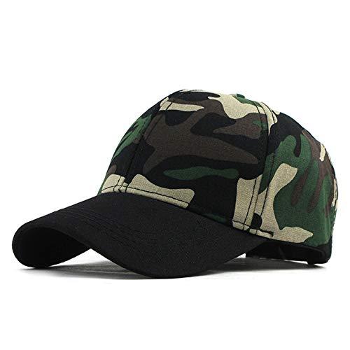 caomingxuan Baseballmütze Snow Camo Baseball Cap Männer Tactical Cap Camouflage Snap-Back-Hut Für Männer Hochwertige Bone Dad Hat Trucker, Blak Green