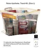 Reiseapotheke von Apotheken-Express (L-Size) 11-teilig inkl. einer pflegenden Handcreme o. Duschbad von Pharma Nature