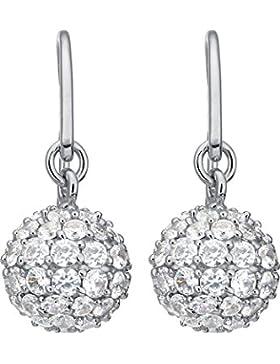 JETTE Silver Damen-Ohrhänger Precious Globe 925er Silber 126 Zirkonia One Size, silber