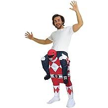 Oficial Unisex Power Ranger Rojo Disfraz infantil de Piggyback–con Stuff su propio patas