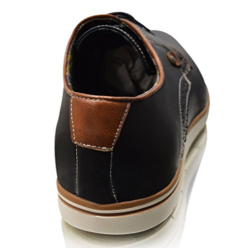 xelay NEUF Hommes Décontracté noir cuir brun doubléélégant Formel Chaussures à lacets UK taille 6-11 Noir