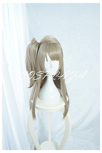 COSPLAZA Perücken Cosplay Wig lang Grau Pony Mädchen Fasching Halloween Party Haar