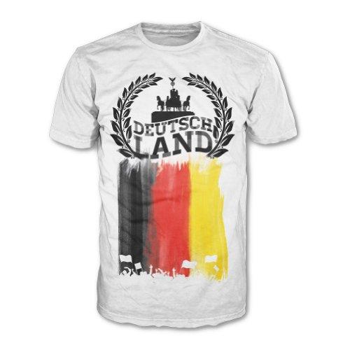 Deutschland Europameisterschaft EM 2016 Fanshirt T-Shirt Fanshirt (Weiß Herren, XL)