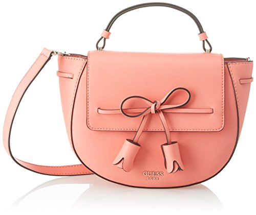 Guess Damen Bags Hobo Umhängetasche, Orange (Coral), 7.5x11x27.5 centimeters (Coral Hobo)