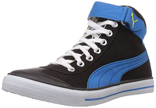 Puma Men's 917 Mid 2.0 Black, Blue Aster and Dandelion Mesh Boat Sneakers- 7 UK/India (40.5 EU) 41WyHVofmnL