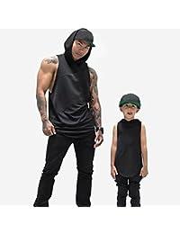 Longra★ Gimnasios para Hombre Fitness Muscle Mesh Hoodie Camiseta sin Mangas sin Mangas Camiseta Top Vest Tank Sudadera con Capucha Sudaderas Hombre