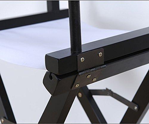 Sedia da regista in tela in legno massello sedia pieghevole