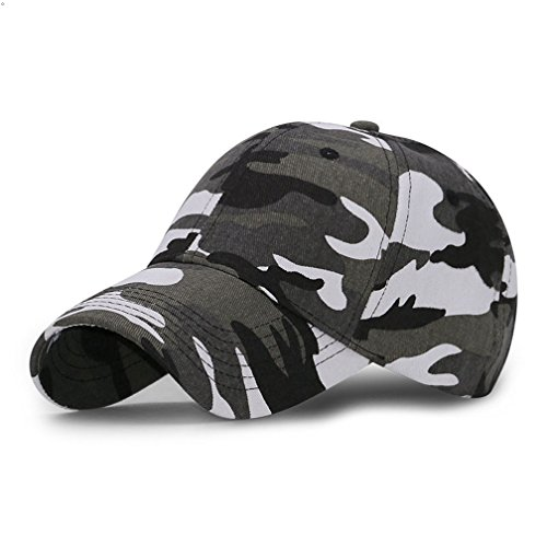 GEEAUASSD Sports Hat Breathable Outdoor Run Cap Camo Baseball caps Shadow Structured hats (Gray)