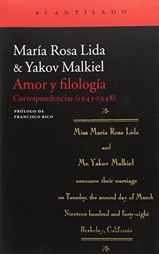 Amor y Filología (El Acantilado) por Yakov Malkiel