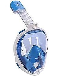 Supertrip easybreath Schnorchelmaske 180 ° GoPro vollgesichtsmaske antibeschlag Tauchmaske anti-leck wasserdicht dry Schnorchel vollmaske mit kamerahalterung Tauchermaske und schnorchel set für kinder jugendliche erwachsene