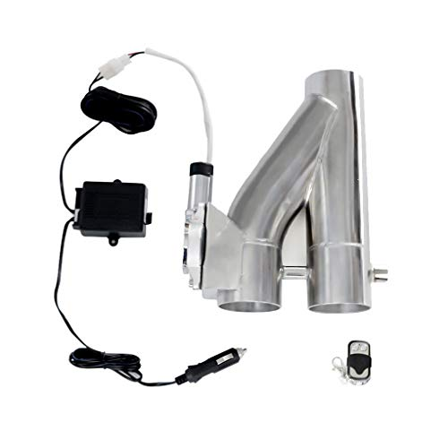 2.5' Elettrico in Acciaio Inox Impianti di Scarico di Taglio Bypass Y Tipo di valvola a Doppia Porta di Controllo remoto Kit di Accessori Auto